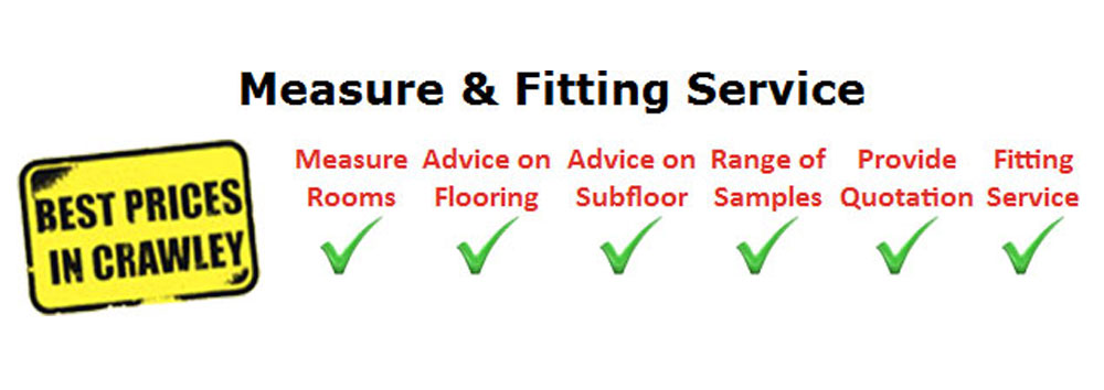 Measure and Fitting Service at Crawley Carpet Warehouse